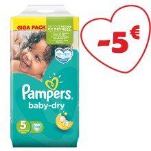 Πάνες Pampers Baby Dry Junior No5(11-25kg)108τεμ+9 πόντους
