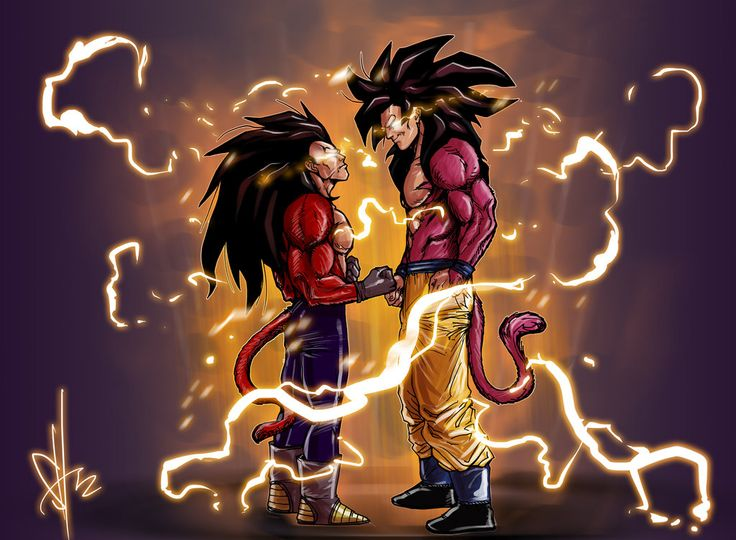 Goku SS4 And Vegeta DBZ Pinterest