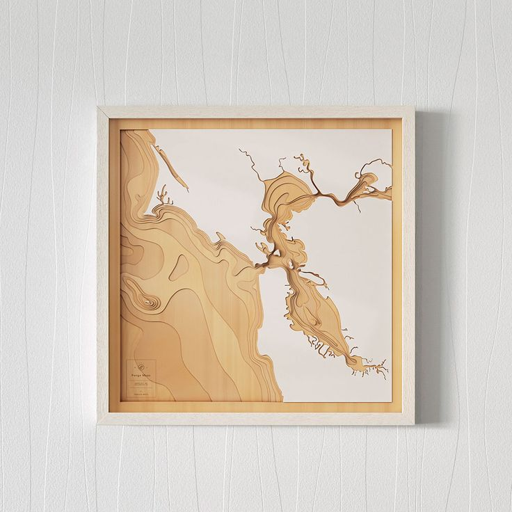 Pangea Maps Wooden 3D Contour Maps of