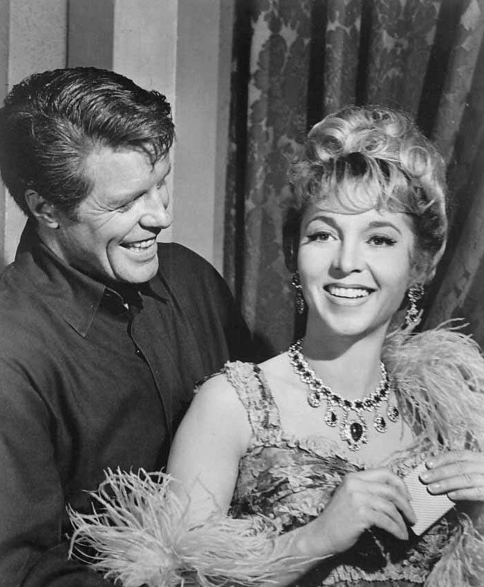 "Robert Horton and Beverly Garland in TV's A Man Called Shenandoah, ""The Onslaught"" (1965)"