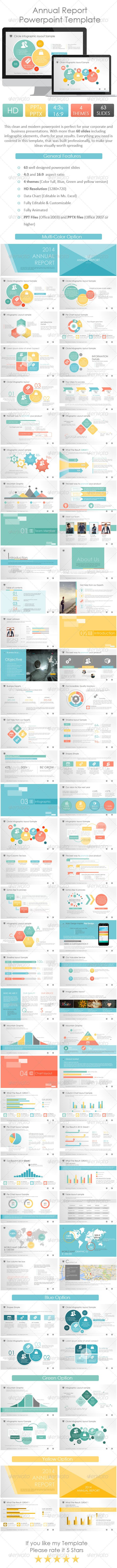 2014 Annual Report Powerpoint Template (Powerpoint Templates) #Powerpoint #Powerpoint_Template #Presentation