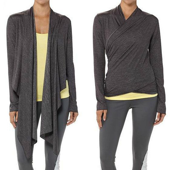 For an extra layer to and from yoga class or something to slip on to stay warm in Savasana, try this silky Patagonia Glorya Wrap ($79).