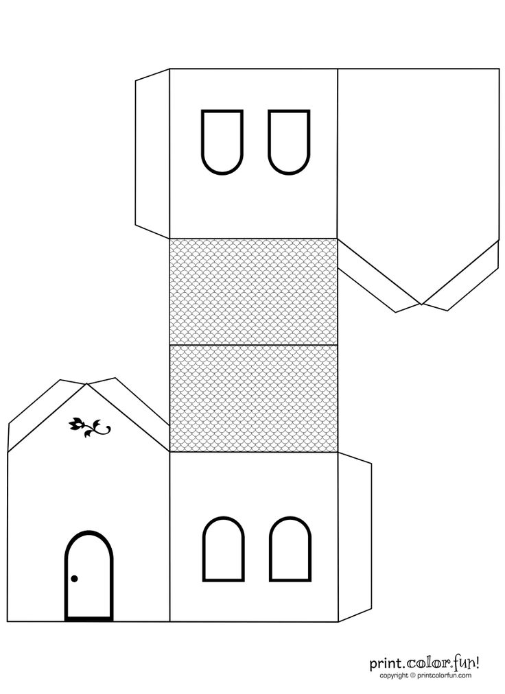 #house #template #papercraft #preschool #kids
