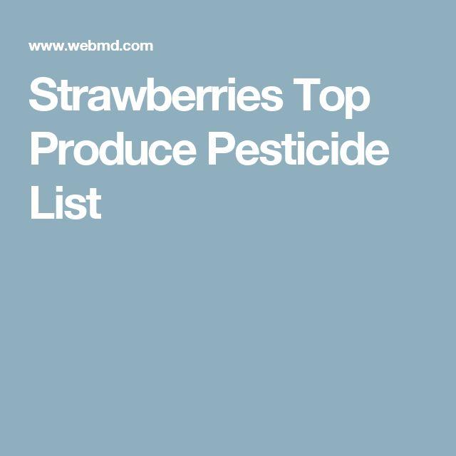 Strawberries Top Produce Pesticide List