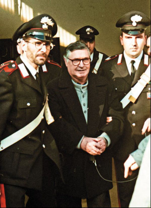 Salvatore Riina, in a Bologna courtroom in 1996, was captured in 1993, convicted and sentenced to life in prison.