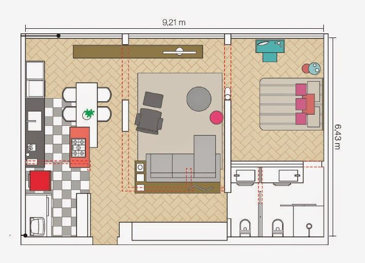 105 best Planos images on Pinterest Floor plans, Cottage and Small - plan petite maison 70 m2