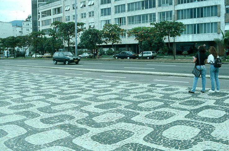 Ipanema Beach Walkway, Rio de Janeiro -Portuguese Calcadas