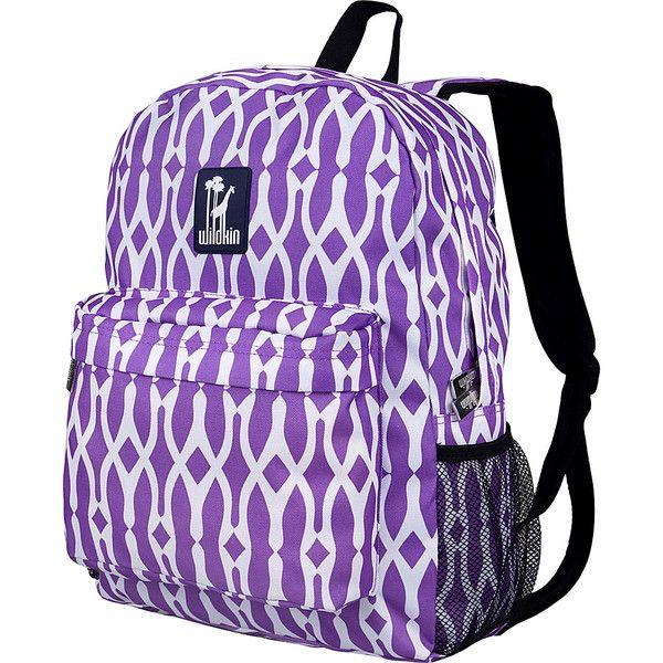 Wildkin Wishbone 16 Inch Backpack - Wishbone - School Backpacks ($26) ❤ liked on Polyvore featuring bags, backpacks, purple, backpack bags, print backpacks, purple bags, day pack rucksack and utility backpack