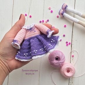 Добрый день   Платье для новой куколки готово  #одеждакукололяки  Мои самые любимые цвета для кукольных платьев розовые, сиреневые, фиолетовые  Куколка будет искать дом   Надеюсь успею к понедельнику доделать детали  и сфотографировать! хороших выходных друзья  #кукольнаялабораторияоля_ка#olyaka_lab #weamiguru#ручнаяработа#dollmaker#collectiondoll#кукла#кукларучнойработы#интерьернаякукла#handmadedoll#ярмаркамастеров#авторскоеплатье#вязаноеплатье