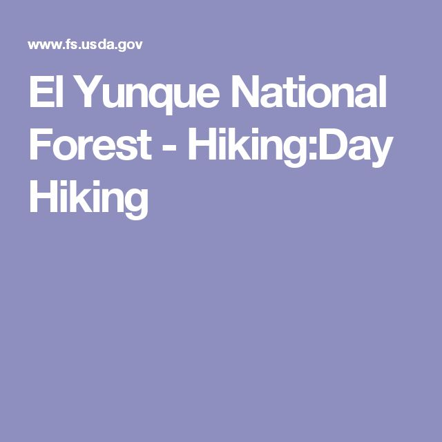 El Yunque National Forest - Hiking:Day Hiking