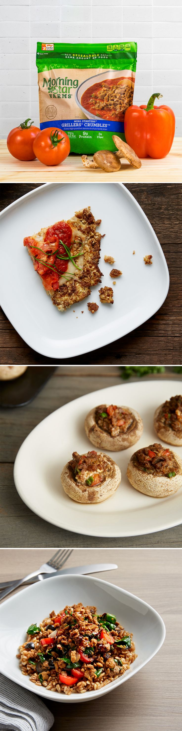 What are you craving for dinner? An easy vegetarian meal that's cheesy, creamy or bright?
