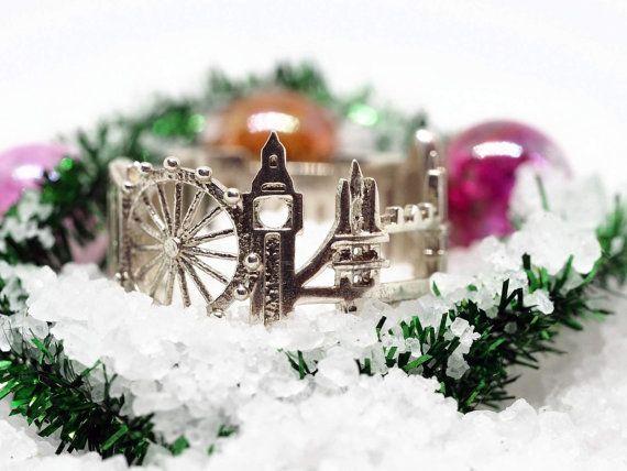 Londres ciudad - horizonte declaración anillo - Idea de regalo - regalo para su Shekhtwoman - regalo de cumpleaños - - el mejor vendedor