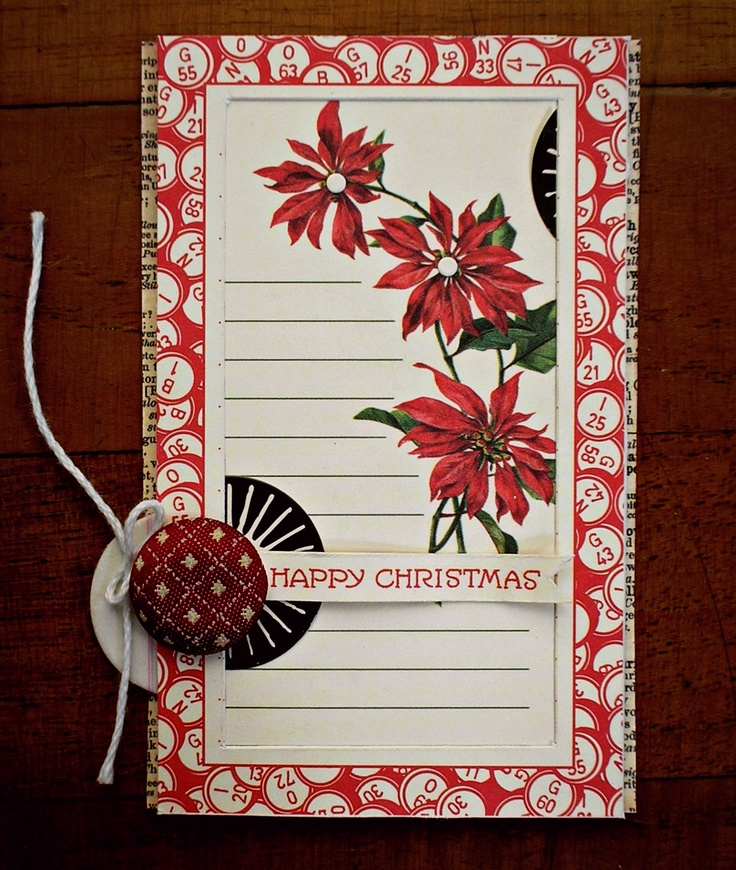 Mixed media paper crafting merry christmas card - 44 Best Images About Jenni Bowlin On Pinterest Studios