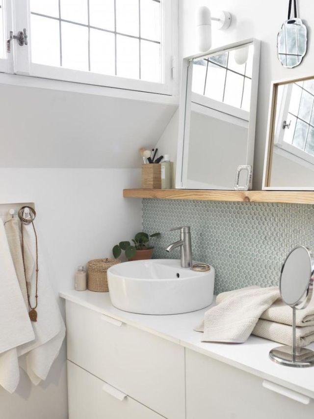 Una simple y bella idea para un gabinete de baño   A simple and beautiful idea for a bathroom cabinet