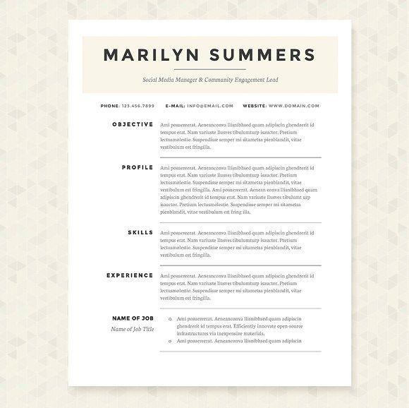 Classic Resume Template Classic Resume Template Packagejannalynncreative On