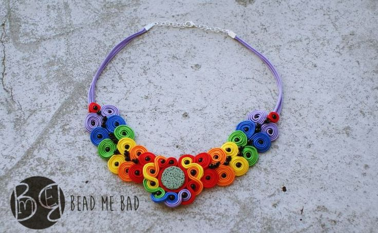 Rainbow necklace - perfect for the summer :)  More photos at my blog :)