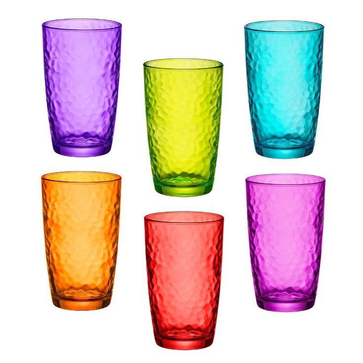 Coloured Glass Tumblers Set