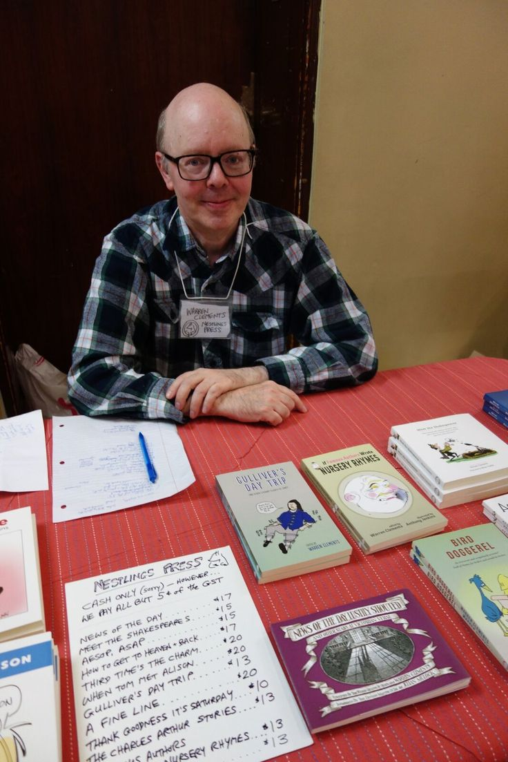 Warren Clements, Nestling Books. Meet the Presses Literary Market. November 19, 2016. Photo by Don McLeod.