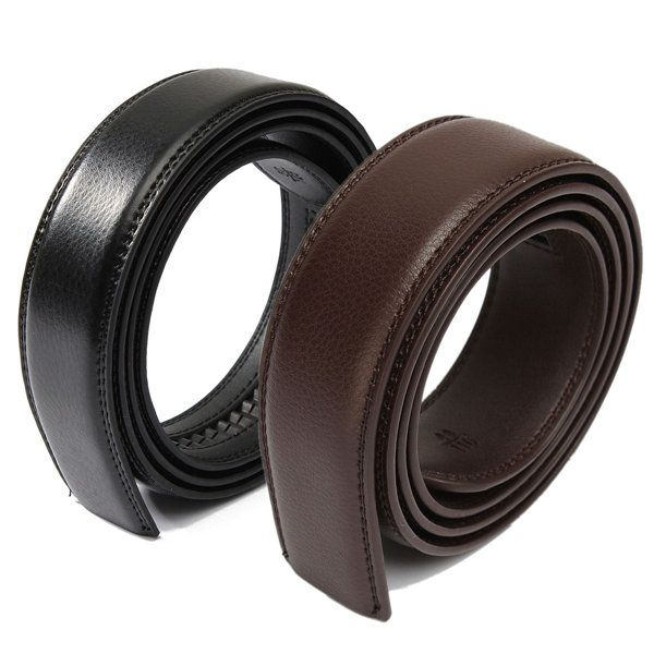 Men's Leather Automatic Waist Band Strap Belt Without Buckle