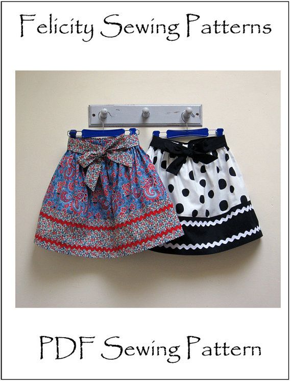 Kitty Skirt sewing pattern for girls 2 to 12 years, girl's pdf skirt pattern…