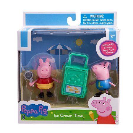 Zoofy International Peppa Pig - Peppa & George Ice Cream Time Play Set, Assorted