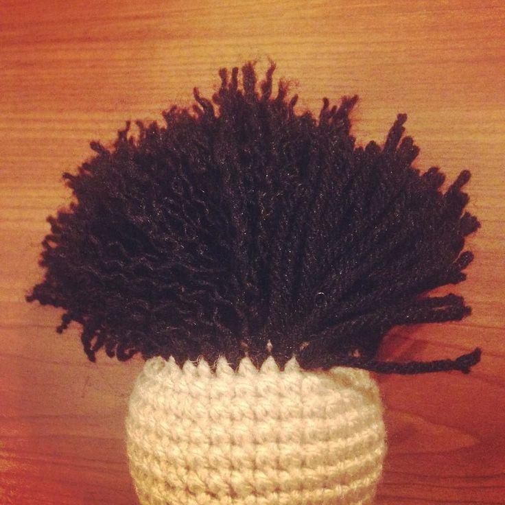 """Hair experiments  Haar Experimente  Experimentos de cabello  Check out my Facebook Fanpage: """"Algodón de azúcar - Casita de muñecas"""" #crochet #ilovecrochet #häkeln #ichliebehäkeln #amigurumi #crochetparaniños #kuscheltiere #cuddletoys #peluches #crochetfanatic #crochetfan #crochetfun #häkelnisttoll #häkelfan #crochetaddict #crochetersofinstagram #crochetlover #amotejer #häkelnmachtglücklich #häkelnistyoga #häkelsüchtig #crochetismytherapy #crochetterapia #häkelnfürkinder by…"""