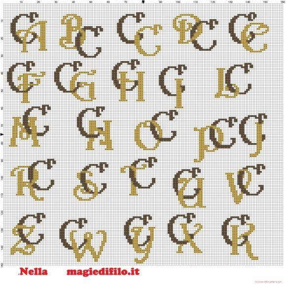 Iniciales letras entrelazadas C