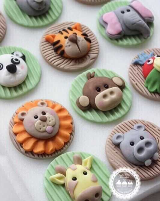 """207 Likes, 10 Comments - LadyBerryCupcakeSchool (@ladyberrycupcakes) on Instagram: """"How do you fancy learning to make a collection of Jungle cuties? Our Jungle Class is running on…"""""""
