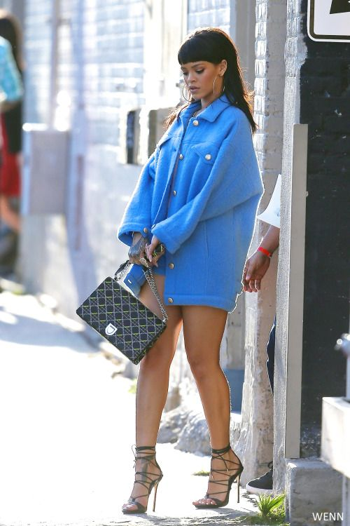 That coat. That bag. Those shoes. Rihanna, you've done it again!