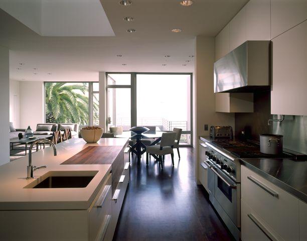 A restrained modern house, open kitchen. gemmilldesign.com
