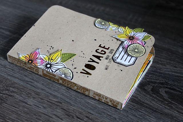 "le blog de miniMlescrap: Mini album ""Voyage""                                                                                                                                                      Plus"