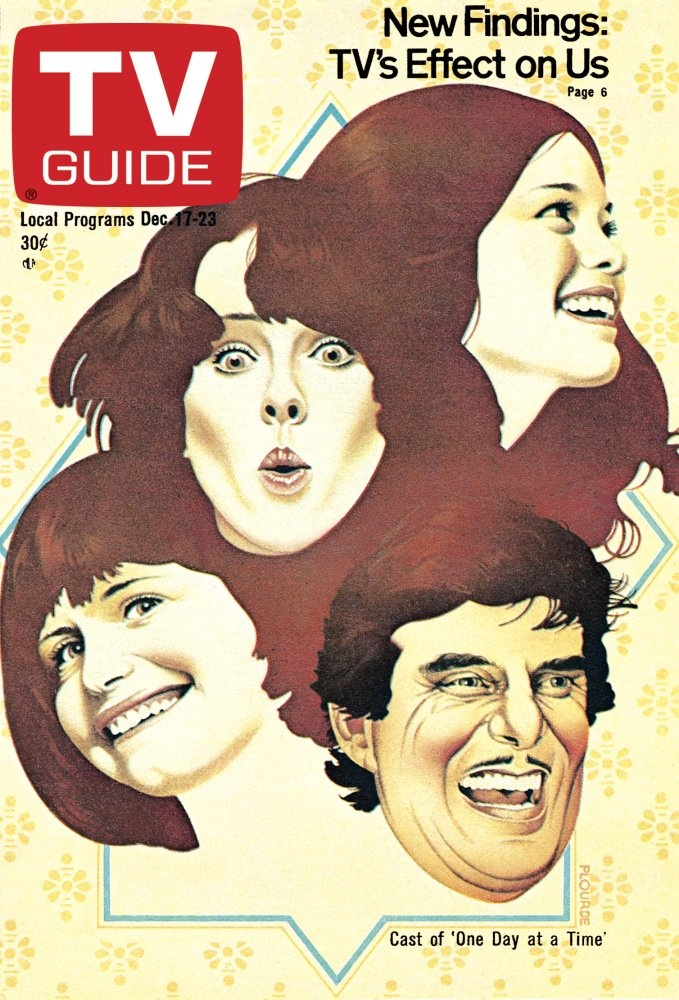 TV Guide, December 17, 1977 — Bonnie Franklin, Mackenzie Phillips, Valerie Bertinelli & Pat Harrington Jr. of One Day at a Time