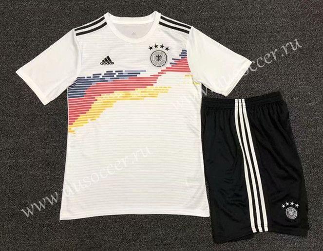 2019 2020 Germany Home White Soccer Uniform Ske Soccer Uniforms Soccer Uniform