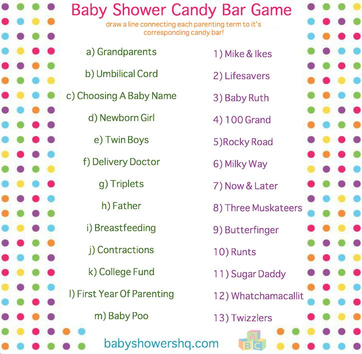 ever play the baby shower candy bar game well if not you seriously