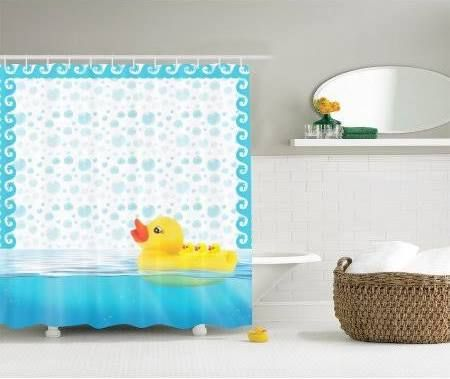 rubber duck shower curtain