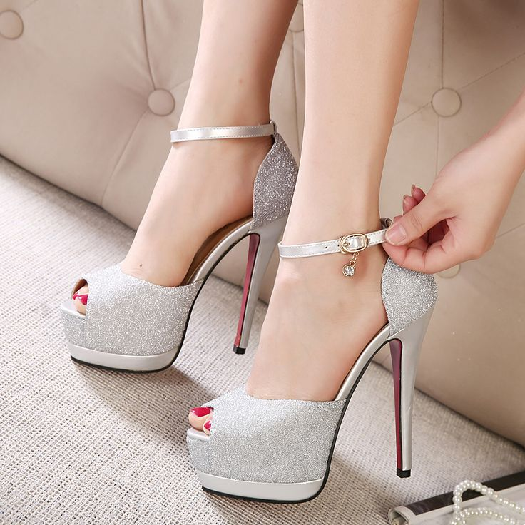Open toe ultra high heels sandals female fashion sexy high-heeled platform thin heels high-heeled shoes