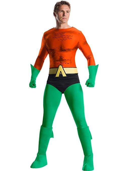 abe45012139e I love this costume! Mens Aquaman Halloween Costume. It has high grade  stretch fabric bodysuit