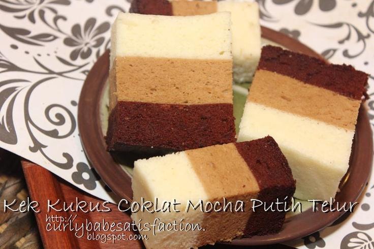 Mocha Steamed Egg White Cake