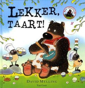 Als knuffelbeer Dorus wakker wordt, merkt hij dat er iemand met kleverige voeten over zijn bed gelopen heeft. En uit het keukenkastje ontbreekt de pot honing. Hij gaat het spoor achterna en ontdekt dat de schapen de pot honing hebben meegenomen om er honingtaartjes van te bakken.Het boek nodigt uit tot interactief voorlezen (zeker als de schapen een 'voedselgevecht' houden. Een zeer geslaagd prentenboek om keer op keer voor te lezen of te bekijken. Vanaf ca. 4 jaar..