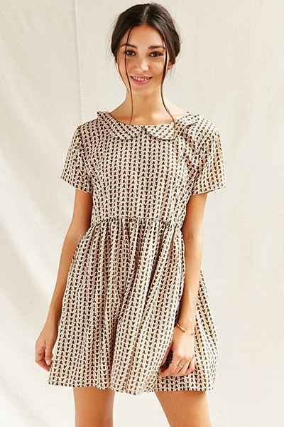 Urban Outfitters Urban Renewal Remade Peter Pan Babydoll Dress $59  Available in ~6 different colors.