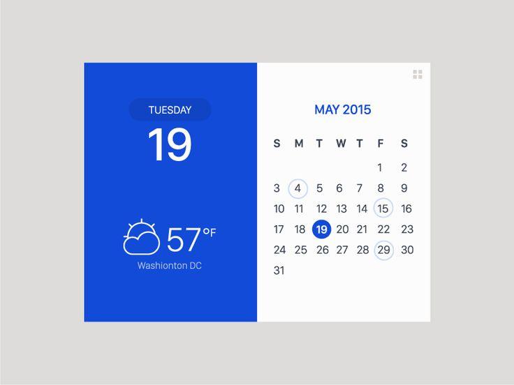 Calendar & Weather Widget by Hanna Jung