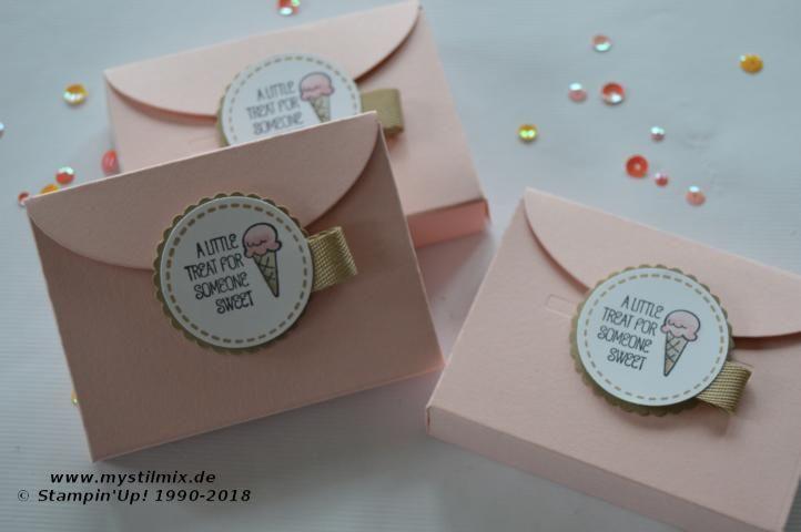 Stampin Up Kleine Verpackung Schachtel Voller Liebe