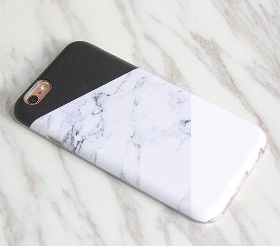 Natürliche Marmor Print geometrische iPhone SE Fall von Syght