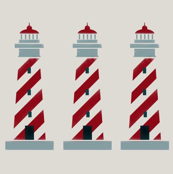 Lighthouse stencil, Nautical stencil, nautical décor, nursery nautical, painting stencil, wall stencil, kids bedroom playroom decor