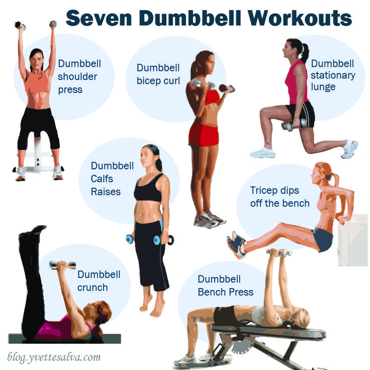 30 Best Dumbbell Workout Images On Pinterest