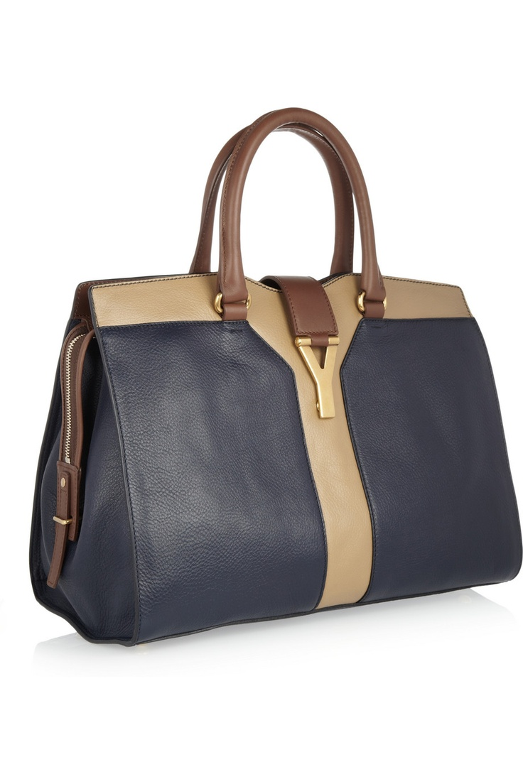 Yves Saint Laurent | Cabas Chyc tri-tone leather tote | NET-A ...
