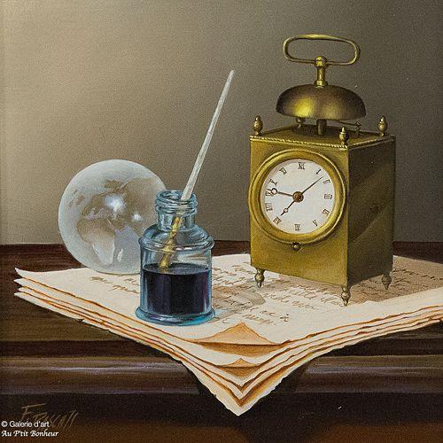 Françoise Pascals, 'Espace-temps', 10'' x 10'' | Galerie d'art - Au P'tit Bonheur - Art Gallery
