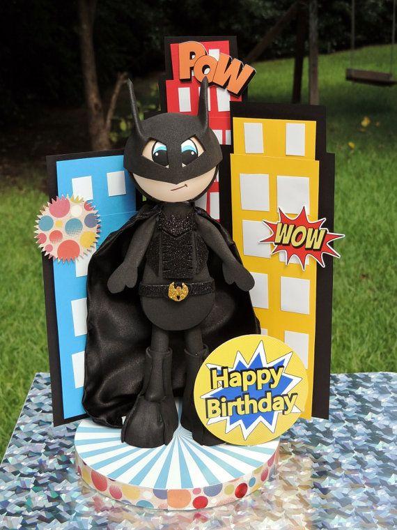 Batman centerpiece by MIPartyCrafts on Etsy