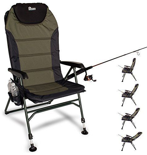 fishing chair ebay stand alone swing chairs and seats 19985 ultimate camping adjustable legs buy it now