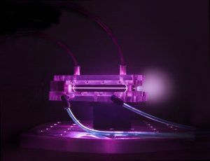 Using one of the most powerful lasers in the world, researchers have accelerated subatomic particles to the highest energies ever recorded from a compact accelerator.  A 9 cm-long capillary discharge waveguide used in BELLA experiments to generate multi-GeV electron beams.